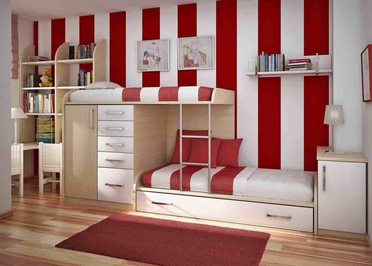 Desain Kamar Tidur Kombinasi Warna Cat Dinding Merah Renovasi
